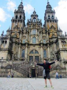 Camino Frances - Martin in Santiago de Compostela