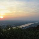 Rheinsteig Stage 1 - View of Bonn with sunset