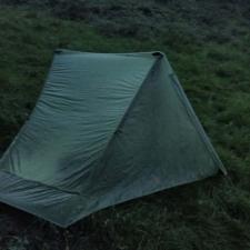 Rheinsteig Stage 1 - Tent construction at dusk in the Siebengebirge