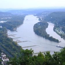 Rheinsteig Stage 1 - View from Drachenfels (Dragonstone) to Bad Honnef