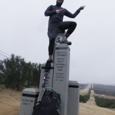 PCT Day 1 - Me on the Monument