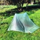 Rheinsteig Stage 2 - My tent in the morning