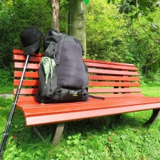 Rheinsteig Stage 3 - Bench with my Backpack to rest