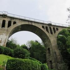 Rheinsteig Stage 3 - Railway bridge over the Ockenfelser Creek