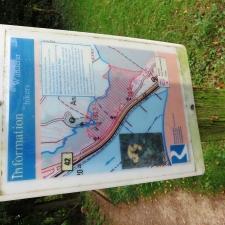 Rheinsteig Stage 4 -Information for hikers in the Rheinbrohl Bird Sanctuary