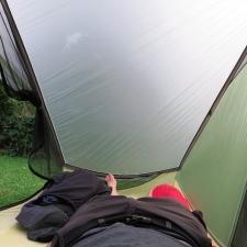Rheinsteig Stage 4 - Lying in the tent - Gossamer Gear - The One