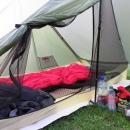 Rheinsteig Stage 4 - View into the tent: Gossamer Gear - The One