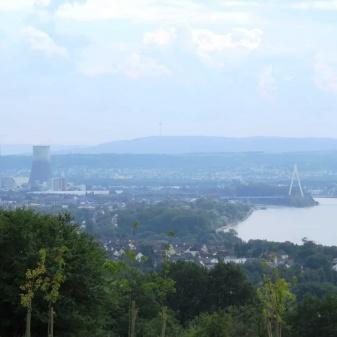 Rheinsteig Stage 5 - View of Neuwied and Andernach