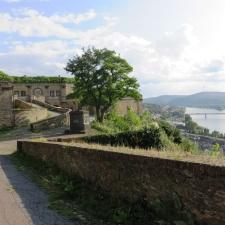 Rheinsteig Stage 7 -  Ehrenbreitstein Fortress - View of the Rhine