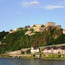 Rheinsteig Stage 7 -  View of Ehrenbreitstein Fortress