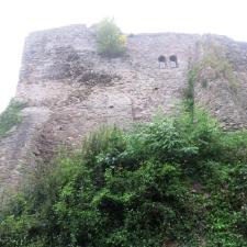Rheinsteig Stage 7 - View of Sayn Castle in the fog