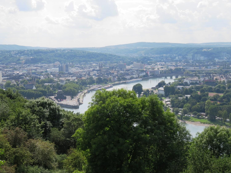 Rheinsteig Stage 7 -  View on Koblenz