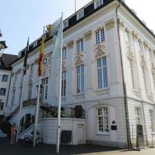 Rheinsteig Stage 1 - City Hall Bonn - Official start of the Rheinsteig at City Hall Bonn